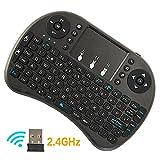 Interlink ミニ キーボード Bluetooth 3.0 タッチパッド搭載 マウスセット ポータブル 超小型 ワイヤレス キーボード 92キー 多機能ボタン USBレシーバー付き Mini Bluetooth Keyboard