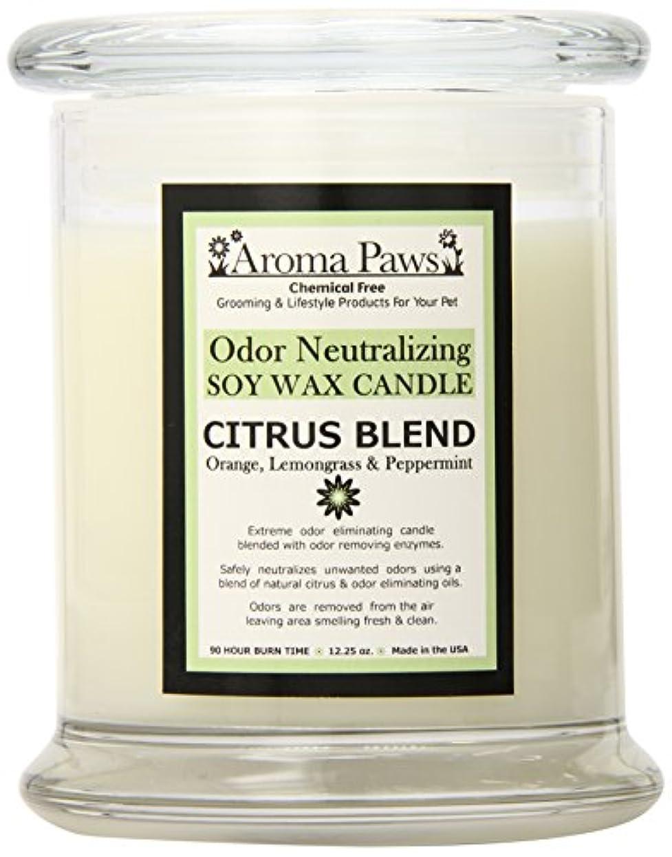 陰気クロニクル北東Aroma Paws Odor Candle, 12-Ounce, Citrus by Aroma Paws