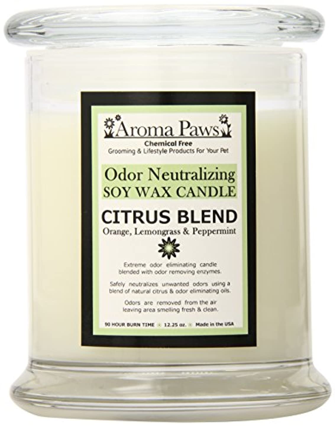 モルヒネ比喩意外Aroma Paws Odor Candle, 12-Ounce, Citrus by Aroma Paws
