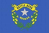 ネバダ州状態フラグ–活版 24 x 36 Giclee Print LANT-51207-24x36