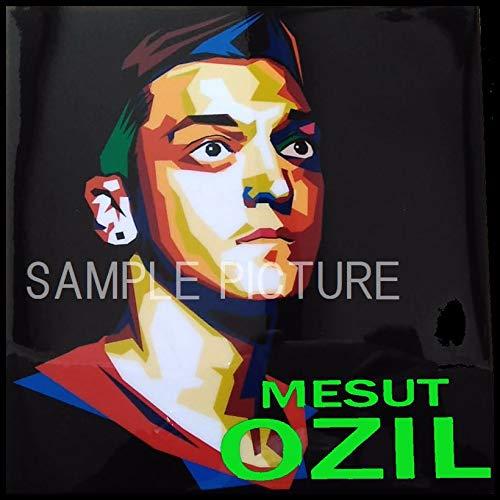 メスト・エジル アーセナルFC ドイツ代表 海外サッカーグラフィックアートパネル 木製 壁掛け ポスター インテリア