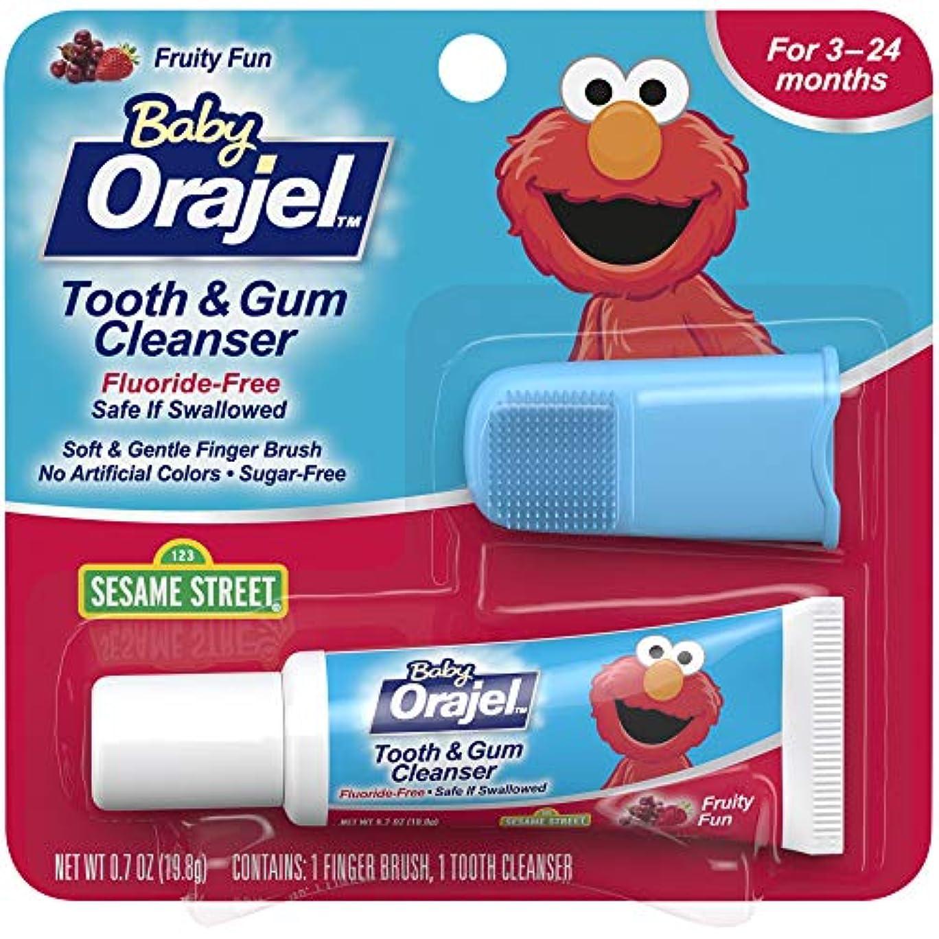 落ちた資源雲海外直送肘 Baby Orajel Tooth Gum Cleanser Mixed Fruit, Mixed Fruit 0.7 oz
