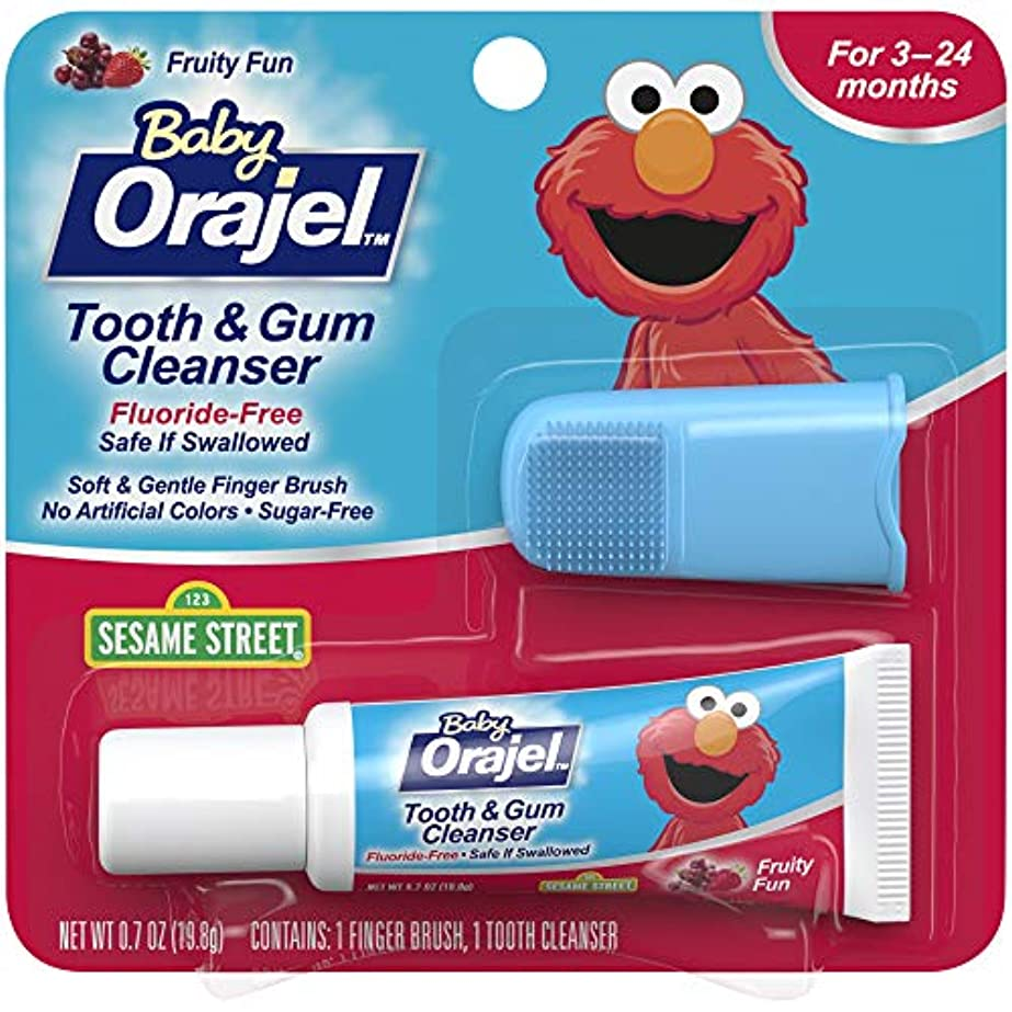 嫌悪フォーマットウィザード海外直送肘 Baby Orajel Tooth Gum Cleanser Mixed Fruit, Mixed Fruit 0.7 oz