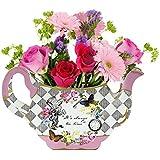 おしゃべりテーブル 不思議の国のアリス パーティー用品 花瓶 センターピース マッドハッター ティーパーティー 誕生日パーティー ベビーシャワーに最適 紙製