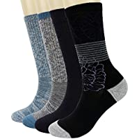 PlusAg 4P Pack Women's Merino Wool Cushion Hiking Trekking Crew Socks