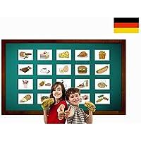 Food and Drinks Flashcards in German - Bildkarten Lebensmittel und Nahrung