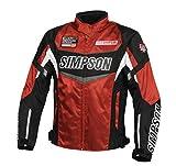 シンプソン(SIMPSON) バイク用ジャケット Nylon Jacket (ナイロン ジャケット) ブラック/オレンジ L SJ-7132