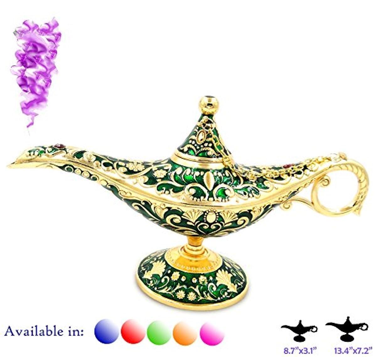 タフアルカトラズ島靴凡例Aladdin Magic Genieライトランプポットクラシックカラー真鍮Aladdin Genie Lamps Incense Burners Normal 8.7x3.1