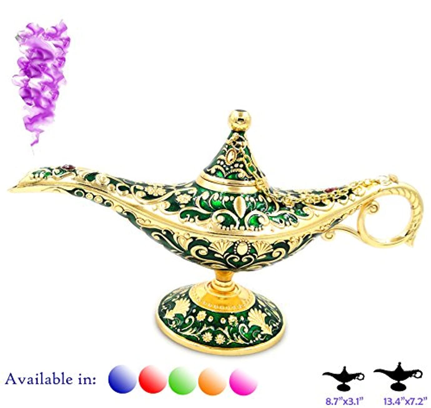 凡例Aladdin Magic Genieライトランプポットクラシックカラー真鍮Aladdin Genie Lamps Incense Burners Normal 8.7x3.1