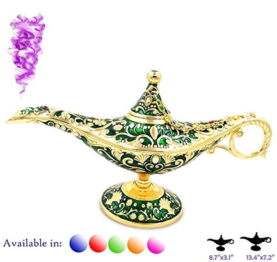 危機偽造凡例Aladdin Magic Genieライトランプポットクラシックカラー真鍮Aladdin Genie Lamps Incense Burners Normal 8.7x3.1