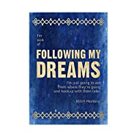 Sick Following My Dreams Hookup Later Mitch Hedberg Quote Blue Wall Art Print 見積もり青壁