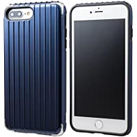 """GRAMAS COLORS""""Rib 2"""" Hybrid Case for iPhone 8/7/8Plus/7Plus (iPhone 8 Plus/7 Plus,Navy)"""