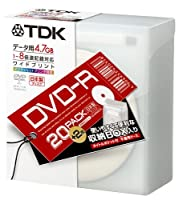 TDK DVD-Rデータ用 1-8倍速記録対応 白ワイドプリンタブル 不織布入り22枚パック [DVD-R47PWDX22FK]