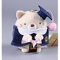 HuaQingPiJu-JP 帽子付き帽子ドールコーナークリーナー付き高品質ぬいぐるみ豚コーナークリーナーぬいぐるみソフトおもちゃコーナークリーナー子供用ギフトトール8cm(ブラウン)