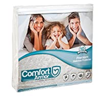 Comfort Armor Mattress Cover King Size by Waterproof Mattress Protector - Protect your Mattress against Bedbugs, Dust Mites and Spills - Hypoallergenic and Breathable Vinyl Free Mattress Pad [並行輸入品]