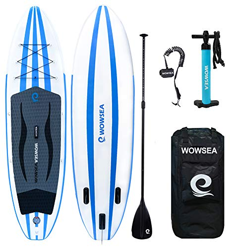 "WOWSEA SUP インフレータブル スタンドアップパドルボード サップボード 10'×32""×6"" 積載重量140kg 安定性抜群 マリンスポーツ 海 夏 AN14"