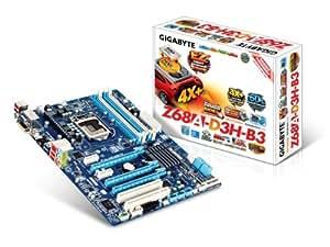 GIGABYTE intel Z68 LGA1155 ATX DDR3 PCI-E X16,X1 PCI HDMI RGB DVI SLI CrossFire USB2.0/3.0 SATA GBE RAID VIRTU SmartResponseTechnology GA-Z68A-D3H-B3/G3