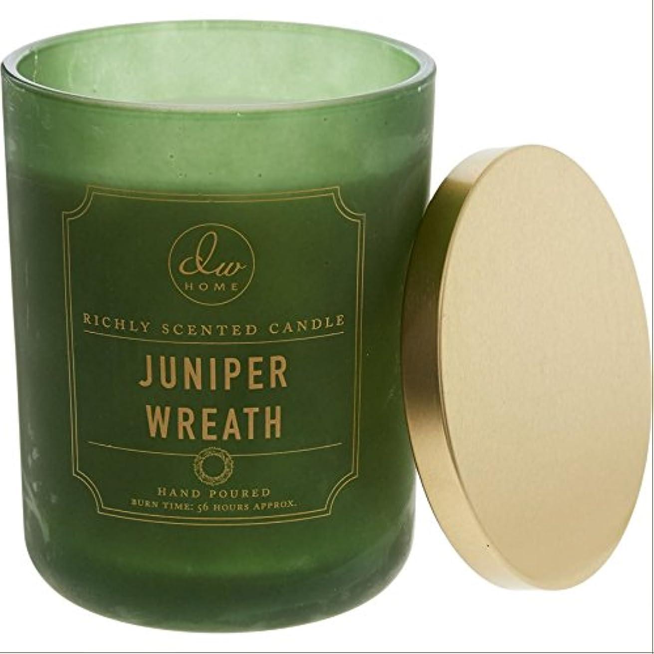 本を読むペンフレンド回るDWホームDecoware豊かな香りCandle Large Double Wick 15oz – -- JUNIPER Wreath