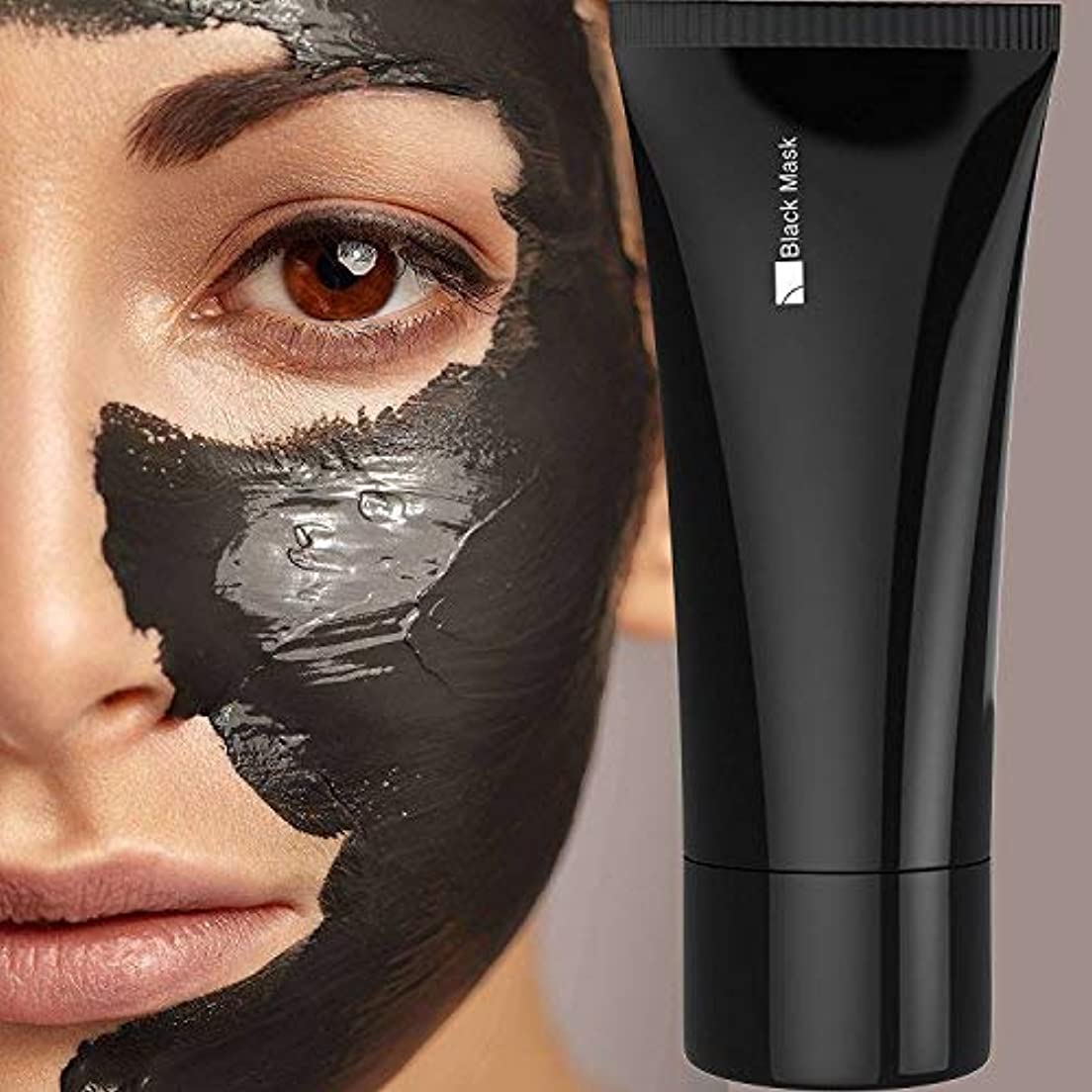 添付論争の的好きFace apeel Blackhead Remover Cleaner Purifying Deep Cleansing Acne Black Mud Face Mask Peel-off