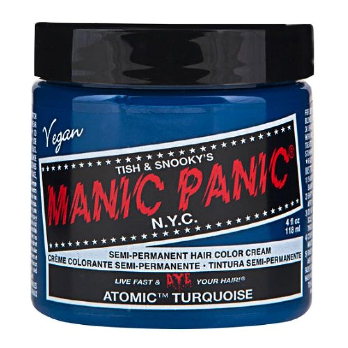 いっぱい保証する深いマニックパニック MANIC PANIC ヘアカラー 118mlアトミックターコイズ ヘアーカラー