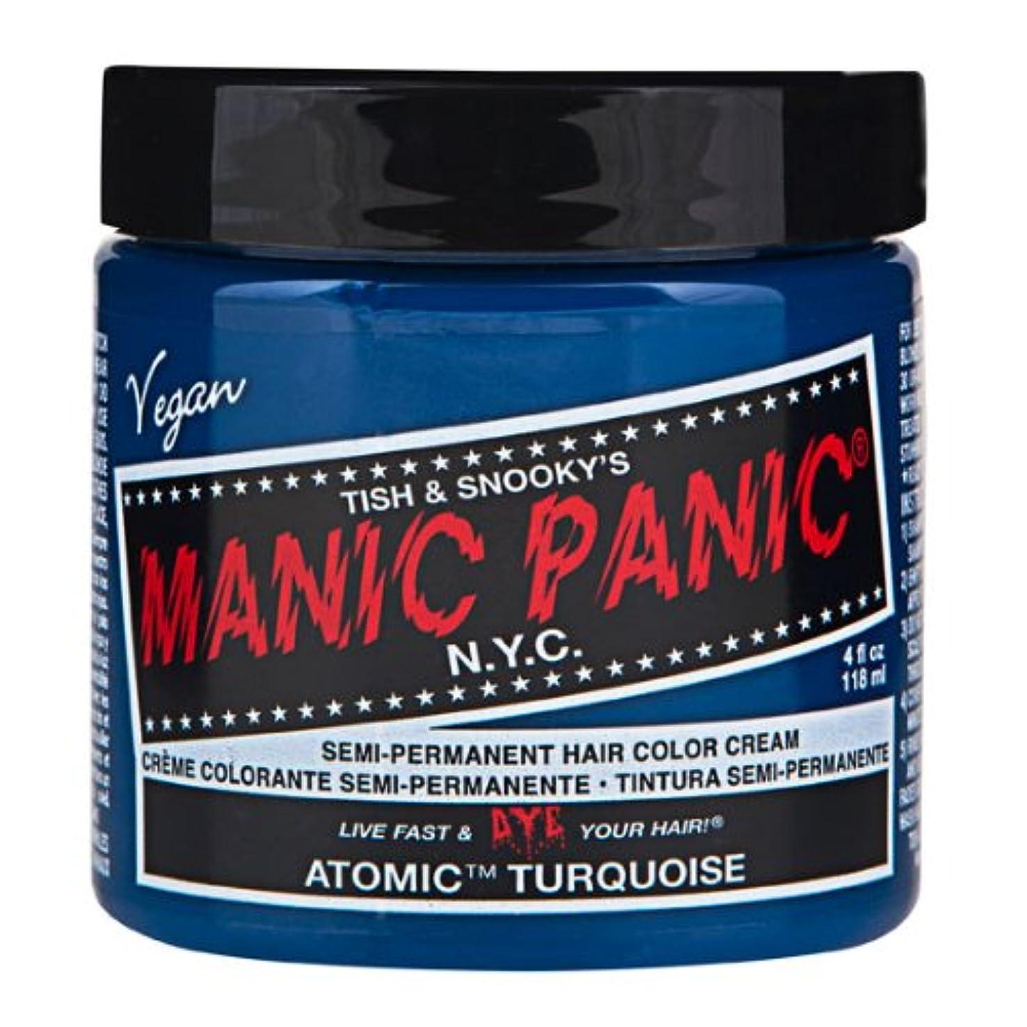 パーティション従来のエクスタシーマニックパニック MANIC PANIC ヘアカラー 118mlアトミックターコイズ ヘアーカラー