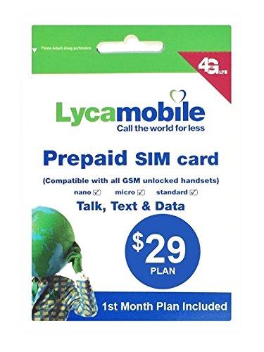 アメリカ ハワイSIM lycamobile 初月料金コミコミパック LTE通信4GB/通話/テキス...