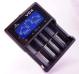 XTAR(エクスター) VC4 【充電情報表示機能 ディスプレイ付き】 USB充電器 マルチサイズ対応 4スロット