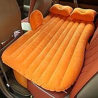 車のセックスベッド旅行のキャンプインフレータブルマットレスヘビーデューティ拡張ソファーポータブルより厚い後部座席電動ポンプと枕 ( 色 : オレンジ )