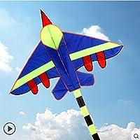 ブルーKite withハンドルラインhcxkite工場アウトドア健康的な素材と印刷、、安心C、簡単コントロール、Flying Higher面白い面白い