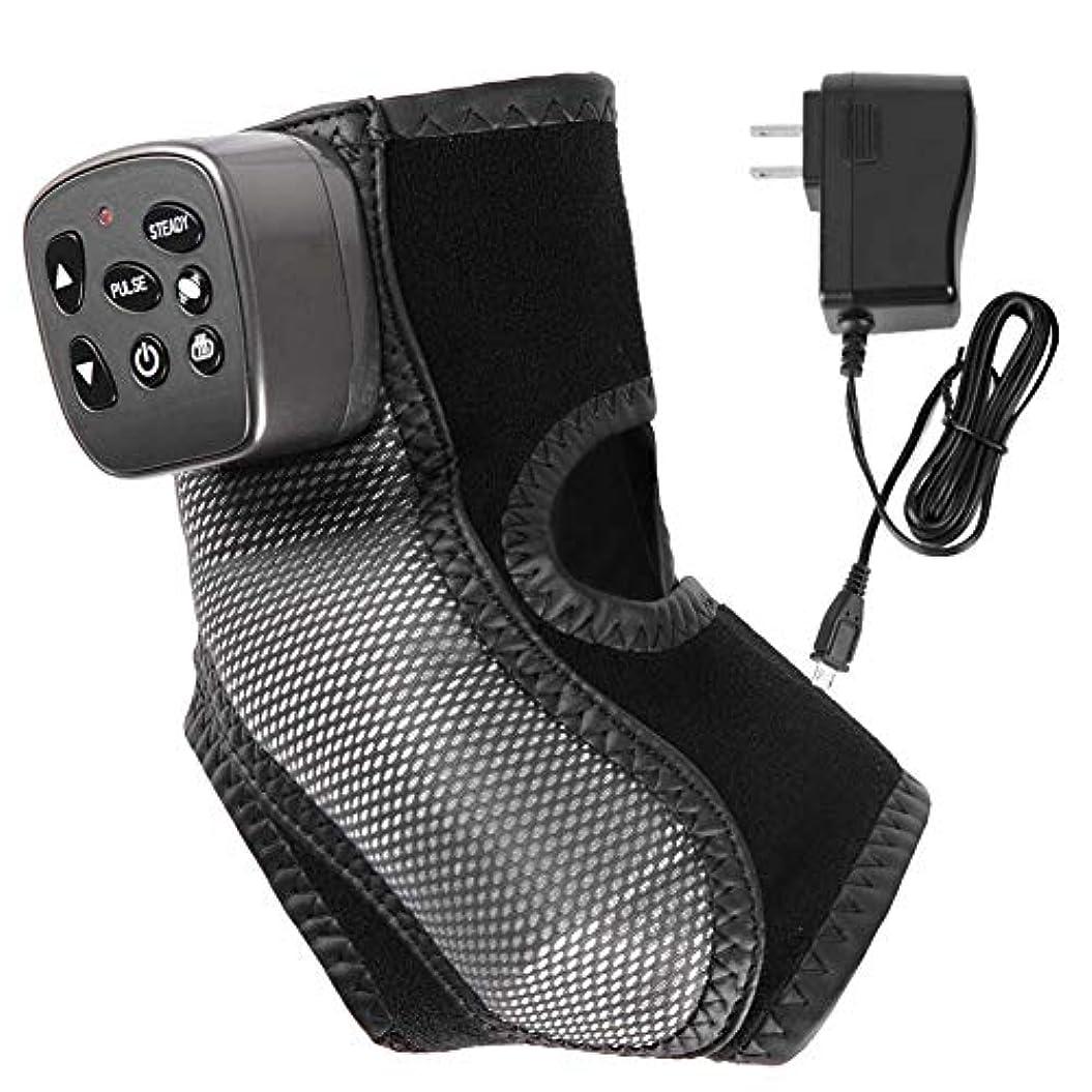 下手登場一般的に言えば足首の足の静脈のサポートのための、家庭での使用のための暖房の圧縮による電気足首の足のマッサージャーの振動暖かいマッサージ、筋肉のために疲れた足の痛みを和らげる