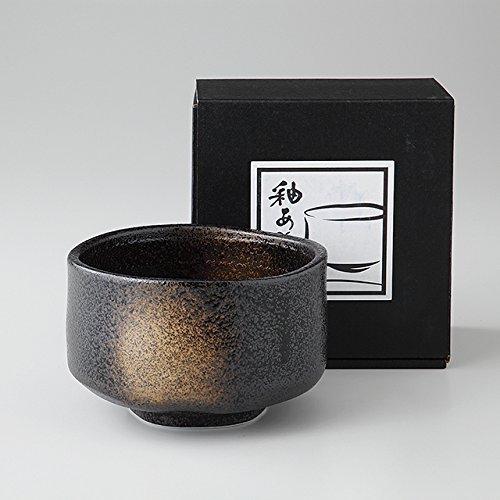 エールネット(Ale-net) 抹茶碗 黒 13×12.5×8.7cm 抹茶茶碗 黒砂吹き