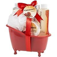 Pomegranate Tub Bath Gift Set by Freida Joe