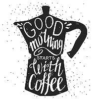 ArtzFolio グッドモーニングはコーヒーで始まります フレーム無し プレミアムキャンバス絵画 20inch x 20inch (50.8cms x 50.8cms) AZART47487493PRE_UN_L_02_UN