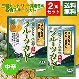メール便 ご当地カレー(鳥取)三朝カントリー倶楽部 フルーツカレー 中辛 2食お試しセット