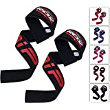 RDX Weight Lifting Straps - Padded Wrist Support Non Slip Flex Gel Grip - Great for Powerlifting, Bodybuilding, Gym Workout, Strength Training, Crossfit, Deadlifts & Fitness Workout