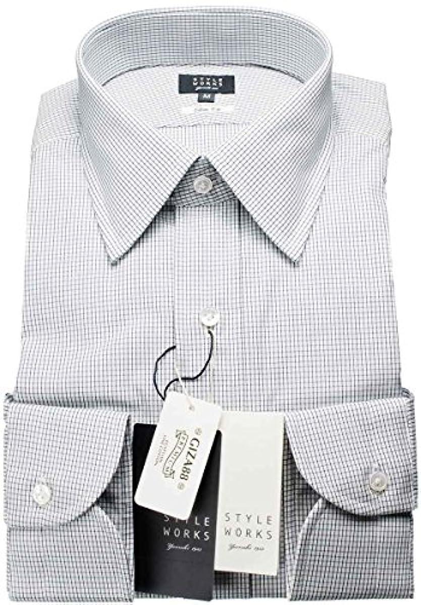 フォージクスクス予測するRSD639-004-0103-S (スタイルワークス) メンズ長袖ワイシャツ 青レギュラーカラー チェック | 青/S