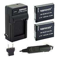 Kapaxen 2pcs dmw-bcm13電池&充電器キットfor Panasonic Lumix DMC -カメラ