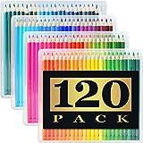 色鉛筆 120色の色えんぴつ 鉛筆セット 塗り絵 スケッチ 六角軸 プレゼントに