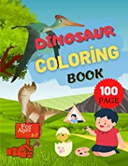Dinosaur Coloring Book: Fun Dinosaur Coloring Book for 3 7 Year Olds For Girls And Boys