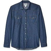 Amazon Essentials Men's Regular-fit Long-Sleeve Denim Shirt