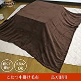 こたつ中掛け毛布 長方形 185×235cm マイクロファイバー素材 マルチカバーとしても使えます 217-410-235 (ブラウン)