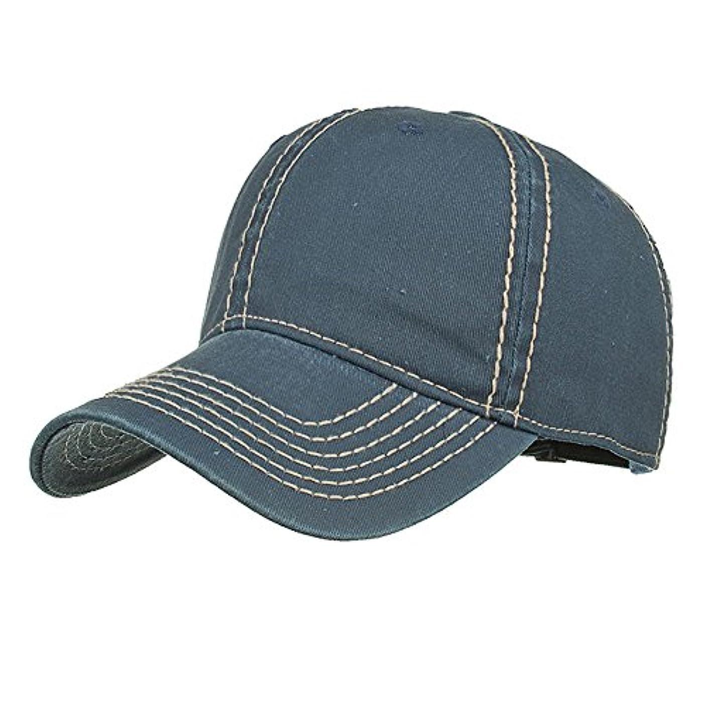 リゾート送る肝Racazing Cap 無地 野球帽 キャップ 夏 登山 通気性のある 帽子 ベルクロ 可調整可能 刺繍 棒球帽 UV 帽子 軽量 屋外 Unisex Hat (C)