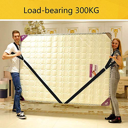 TEZCRT Lifting Moving Straps Carrying Belt Max Load 650 Pound Easy Carry Furniture, Appliances, Mattresses, or Any Heavy Object 2 Person, Black