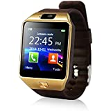 Yuntab SW01 スマートウォッチ  多機能 時計 健康 Calorie, Fat burn スマートウォッチ Bluetooth Smart Watch Fitness Wrist Wrap Watch Phone with Camera Touch Screen for iPhone Samsung HTC LG Android Phone Smartphone with 2G SIM card (Brown)