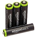 Amazonベーシック 充電池 充電式ニッケル水素電池 単4形4個パック (最小容量750mAh、約1000回使用可能)