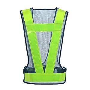 EWHYGO 安全ベスト・反射ベスト 紺*シルバー 可視性の高い警告トラフィックの構築 安全装置 (ブラック ・ イエロー)