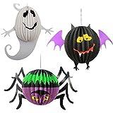 SONONIA  6個 DIY バー 装飾用 ハロウィン お祭り 恐ろしい パーティ カボチャ バット クモ 提灯 ランプ ランタン