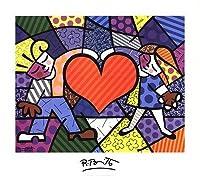 McGawグラフィックスHeart Kids by Romero Britto、アートプリントポスター、全体サイズ: 14x 11、イメージサイズ: 12x 9 28x32 Print