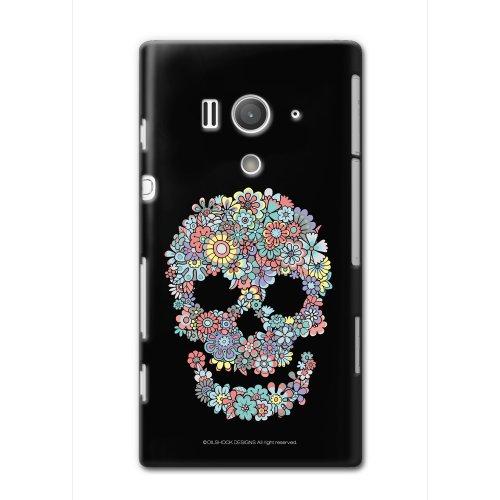 CollaBorn Xperia acro HD専用スマートフォンケース Flower Skull 【Xperia acroHD対応】 OS-XH-124