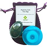 Polar Jade Nephrite Jade Egg Medium Drilled with Unwaxed String Cleaning Brush and Instructions for All Levels of Users in Kegel Exercises to Gain Better Bladder Control to Prevent Incontinence